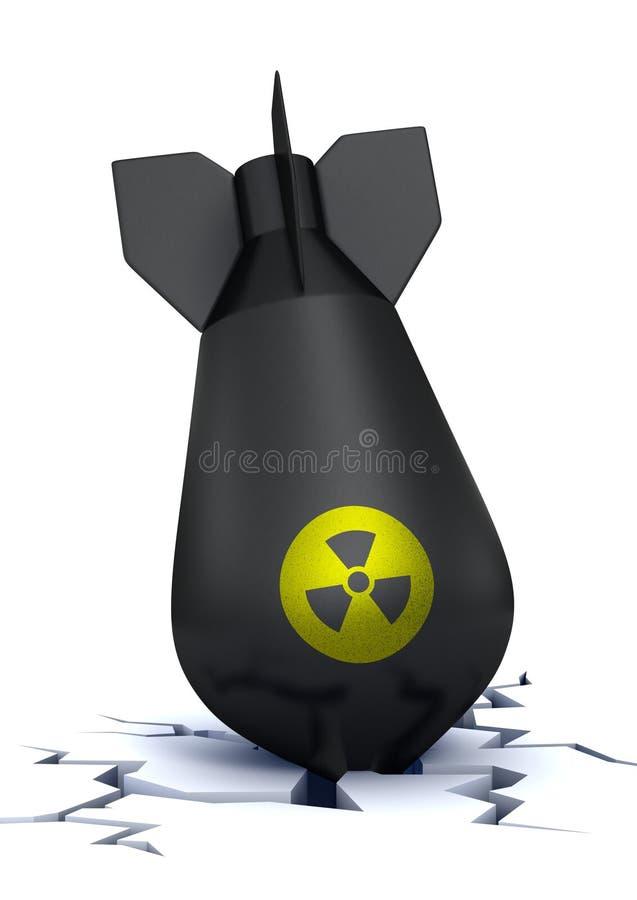 Gefallene und ausfallen Atombombe vektor abbildung