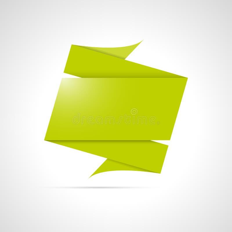 Gefalteter origami Kennsatz lizenzfreie abbildung