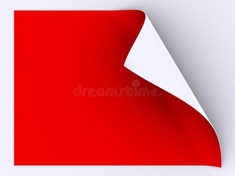 Gefaltetes Blatt des roten Papiers lizenzfreie abbildung