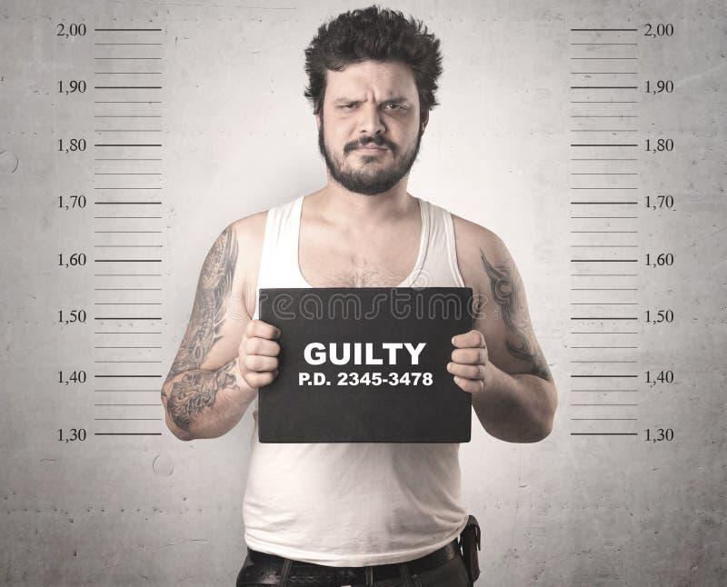 Gefangener Gangster im Gefängnis stockfotos