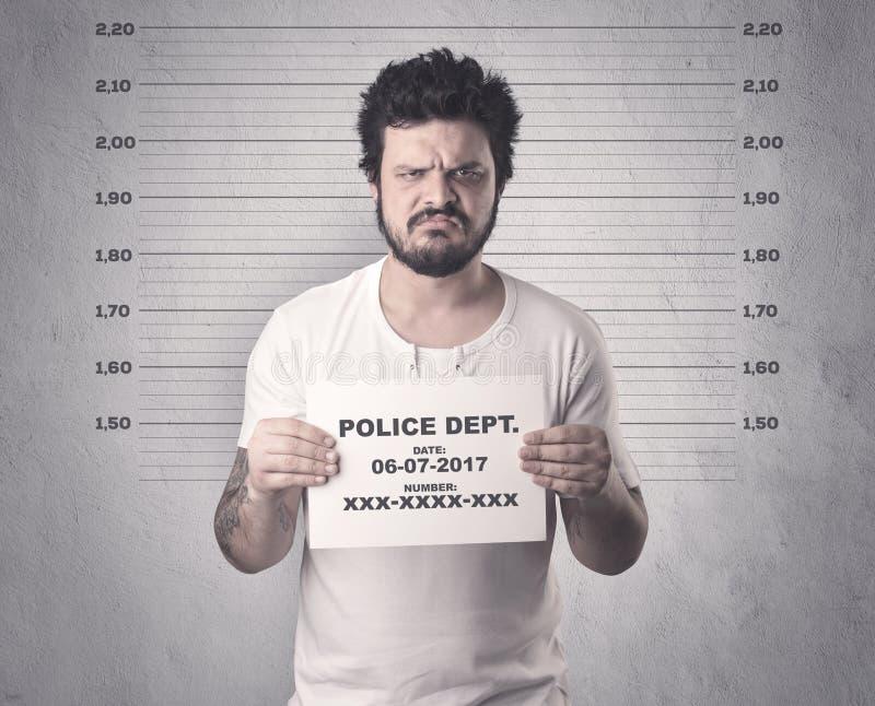 Gefangener Gangster im Gefängnis lizenzfreie stockbilder