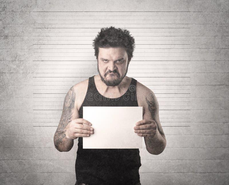 Gefangener Gangster im Gefängnis lizenzfreie stockfotografie