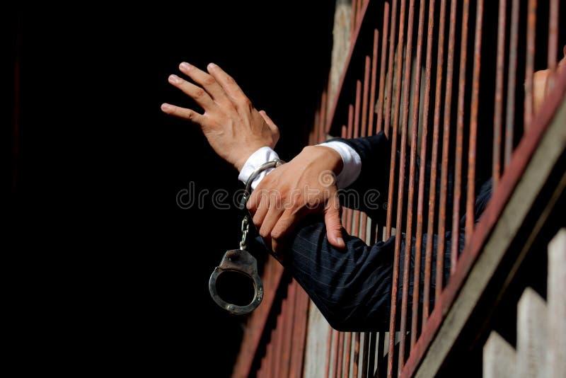 Gefangener im Gefängnis stockbilder