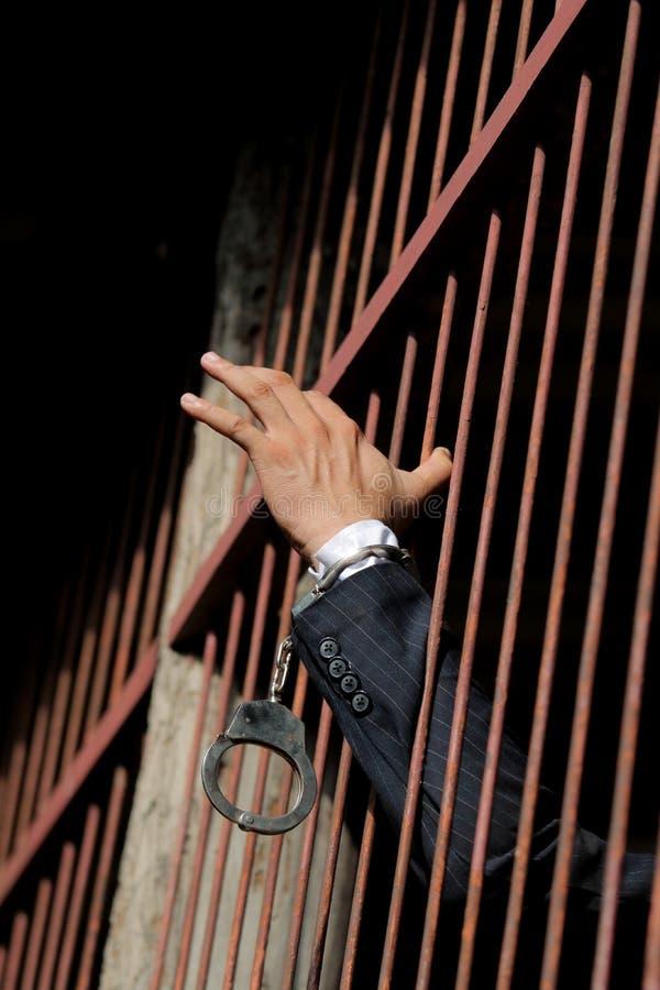 Gefangener im Gefängnis lizenzfreie stockbilder