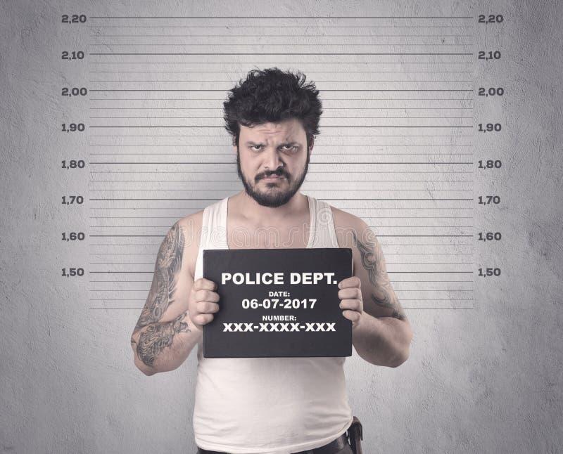 Gefangener Straftäter lizenzfreie stockfotos