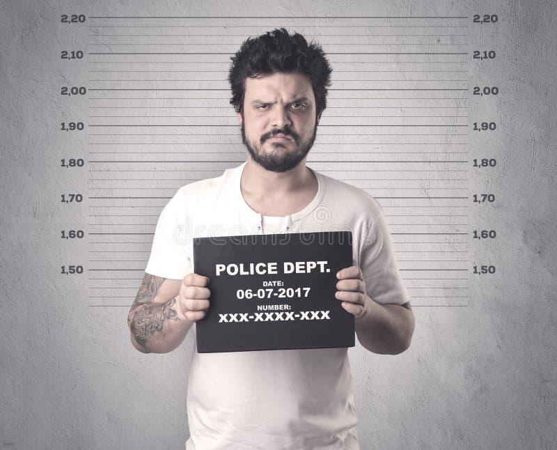 Gefangener Straftäter im Gefängnis lizenzfreie stockfotos