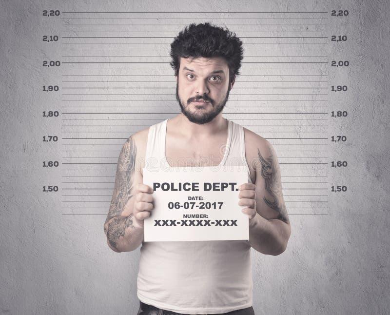 Gefangener Straftäter im Gefängnis stockbild