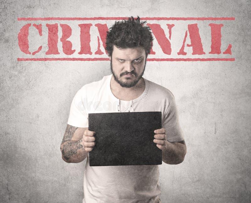 Gefangener Straftäter im Gefängnis lizenzfreies stockbild