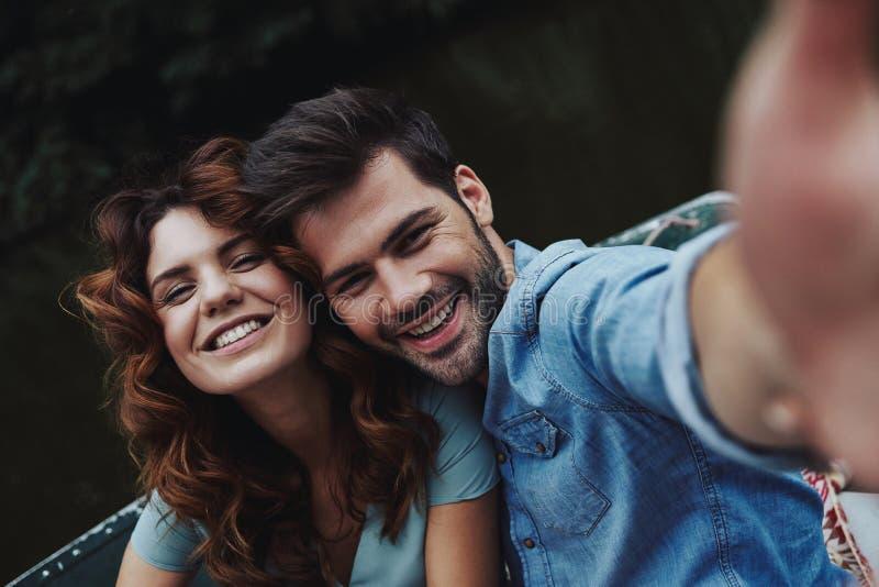 Gefangennehmen von glücklichen Momenten stockfoto