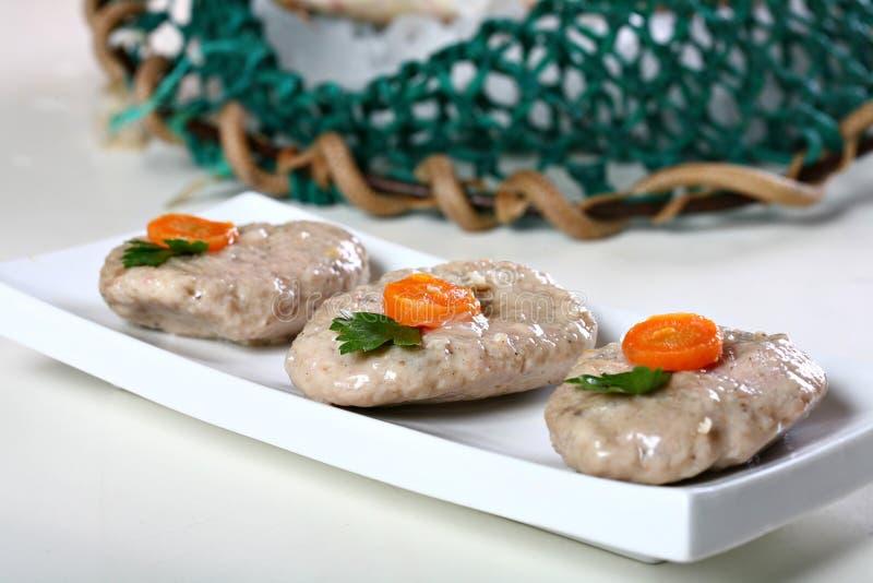 Gefilte fish stock photos