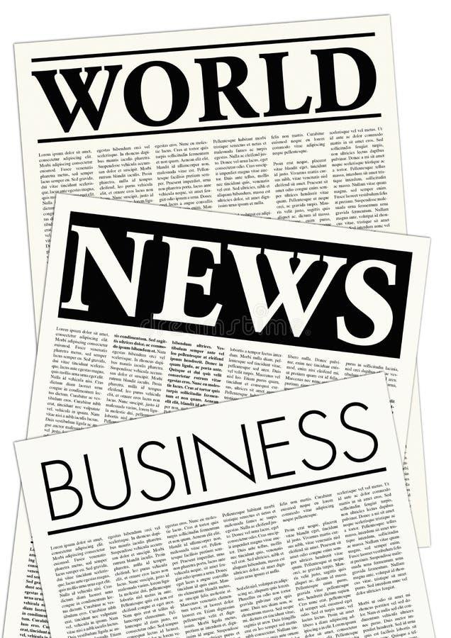 Gefingeerde kranten royalty-vrije illustratie