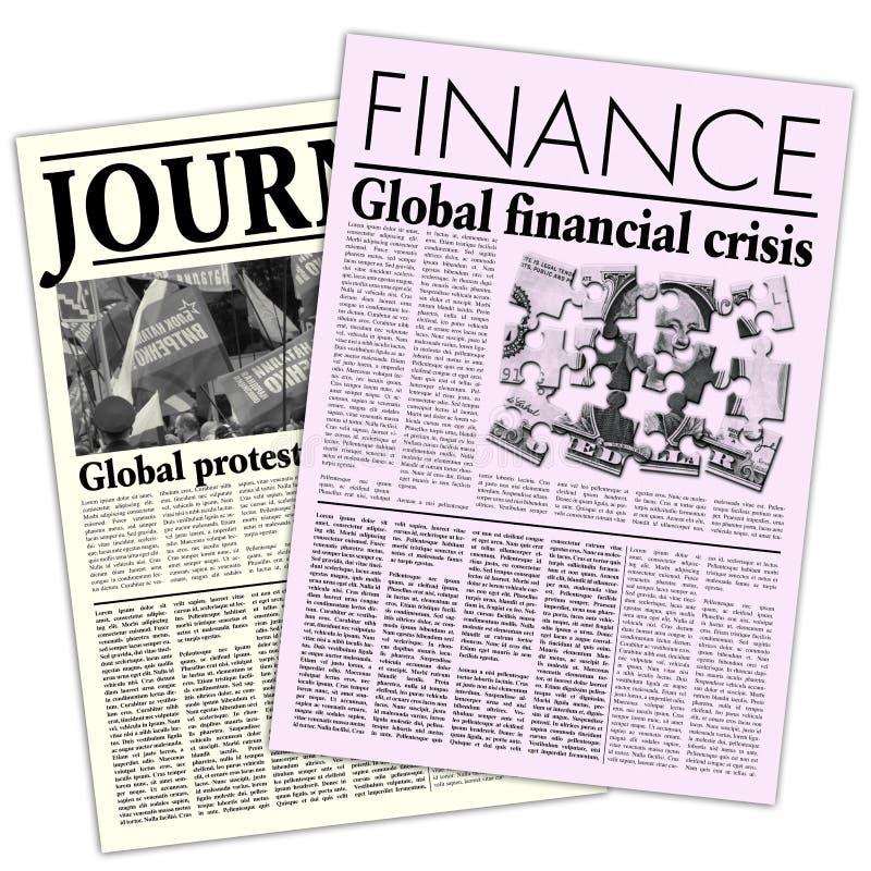 Gefingeerde Kranten stock illustratie