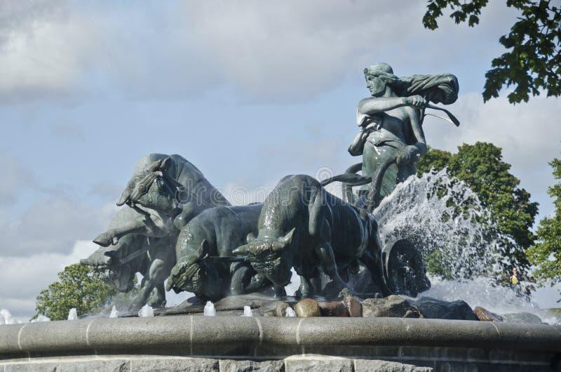 Gefion fontanna fotografia stock