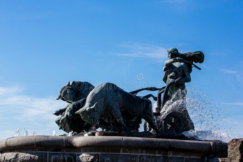 The Gefion Fountain in Copenhagen royalty free stock photo