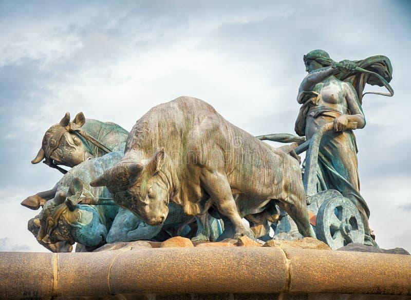 Gefion Fountain a Copenhaghen fotografie stock libere da diritti