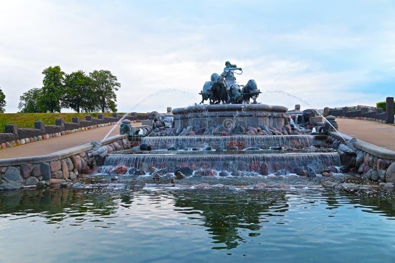 Gefions-Brunnen in Kopenhagen lizenzfreies stockfoto