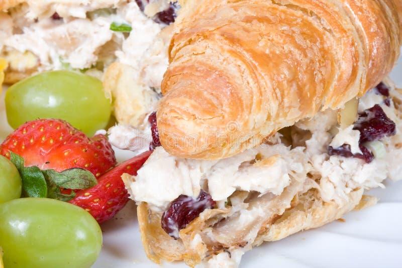 GeflügelsalatSandwich lizenzfreie stockbilder