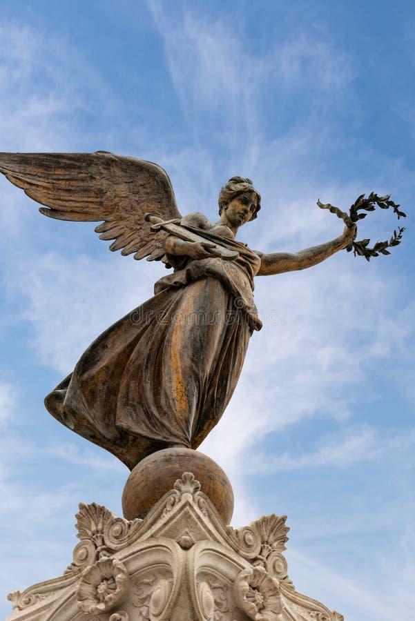 Gefl?gelter Sieg - Altare-della Patria - Rom Italien lizenzfreie stockbilder