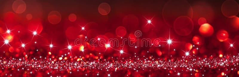 Gefonkelde rode achtergrond - Kerstmis royalty-vrije stock foto's
