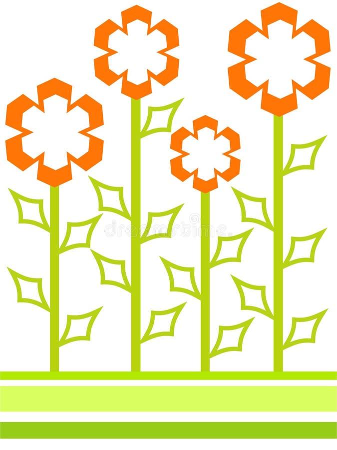 Geformte Blumen lizenzfreie abbildung