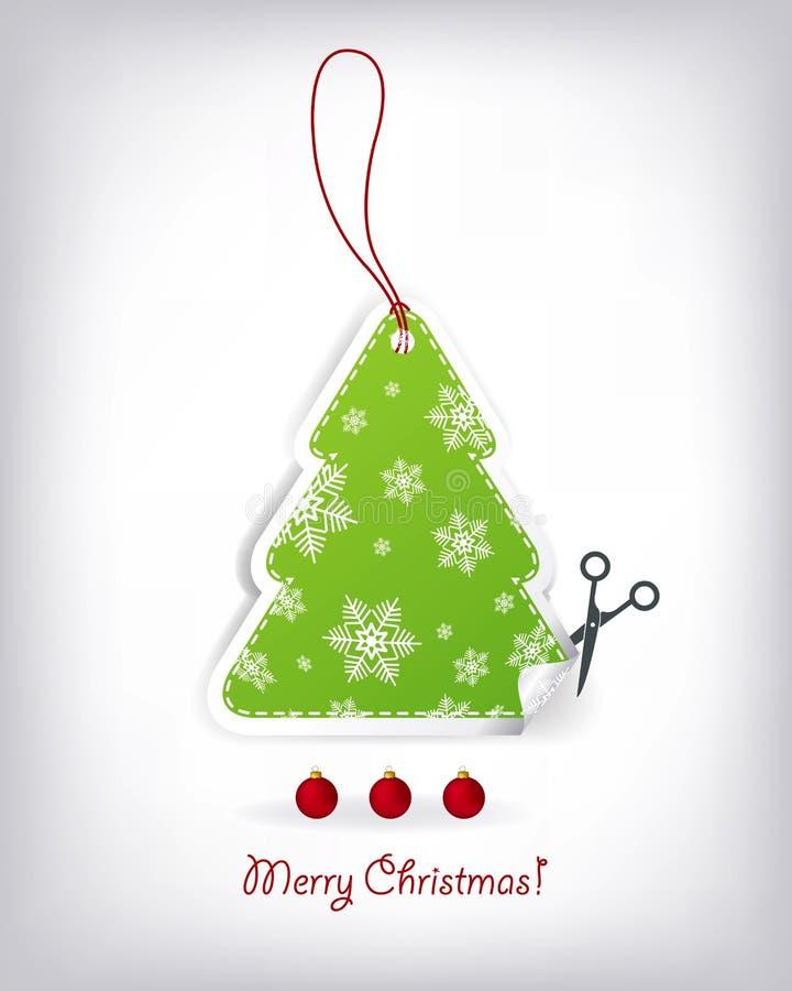 Geformte Einladungen des Weihnachtsbaums stock abbildung