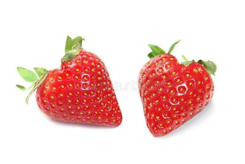 Geformte Erdbeeren des Inneren lizenzfreies stockbild