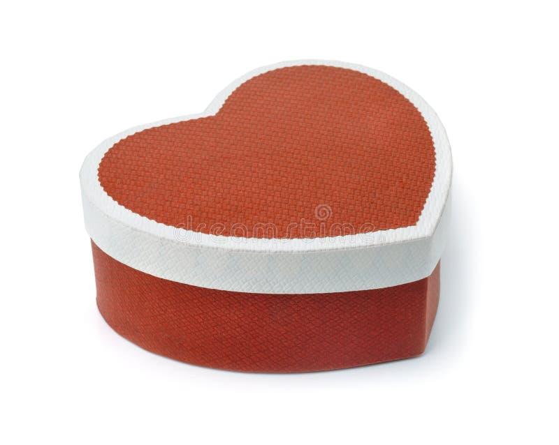 Geformte Geschenkbox des Herzens stockbilder