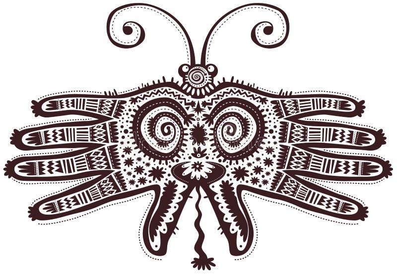 Geformte Hände des dekorativen Schmetterlinges stock abbildung