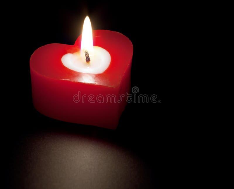 Geformte Kerze des Inneren lizenzfreies stockfoto