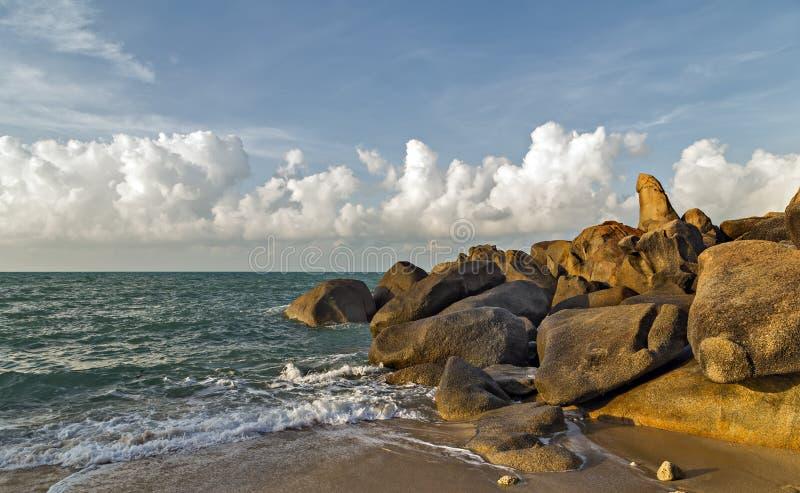 Geformte Säule Koh Samui, Thailand der Felsenpenis lizenzfreies stockfoto