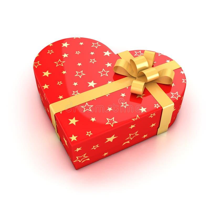 Geformter Geschenkkasten des Inneren stock abbildung