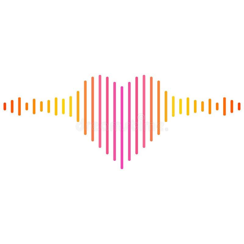 Geformter Musikentzerrer des Spaßherzens lizenzfreie abbildung