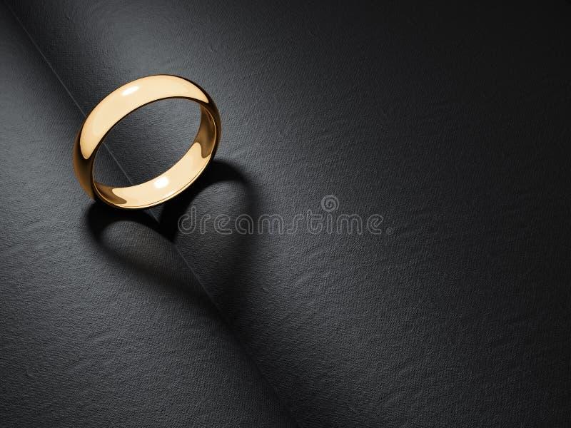 Geformter Schatten des Eheringcasting-Herzens lizenzfreie abbildung