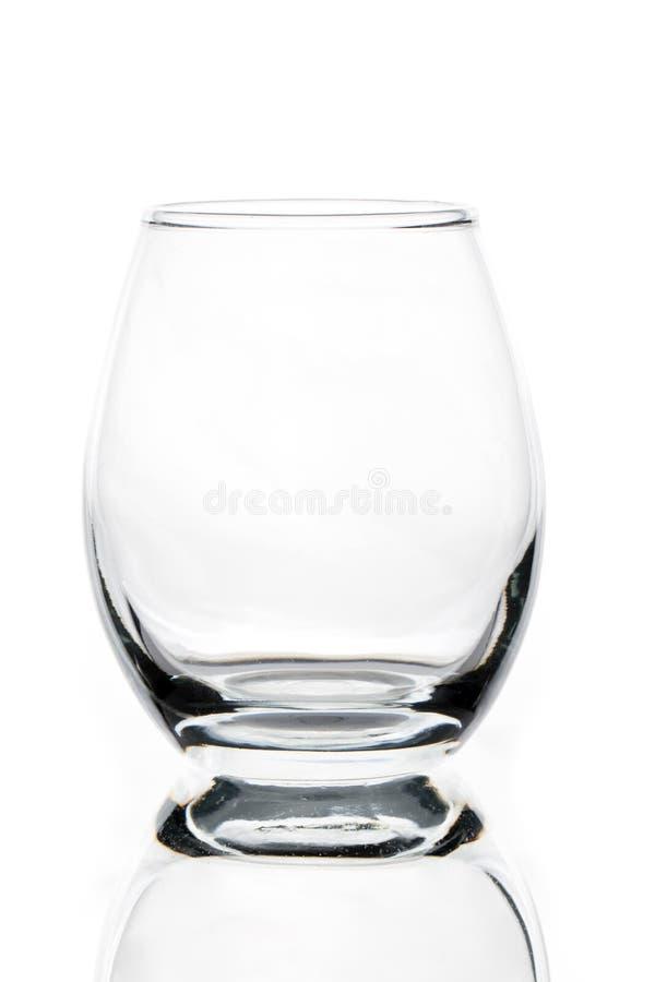 geformter Whisky der leeren Tulpe oder Kognakglas stockfotos