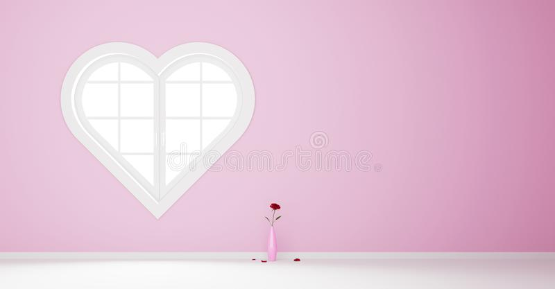 Geformtes Fenster des Herzens vektor abbildung