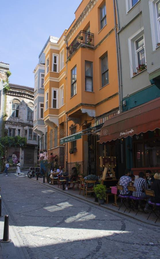 Gefotografeerd op de straten van Balat stock afbeelding