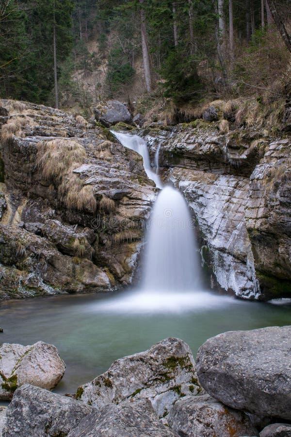 Download Gefotografeerde Waterval In Kuhflucht Met Lange Blootstelling Stock Foto - Afbeelding bestaande uit vloeiend, vloeistof: 107702290
