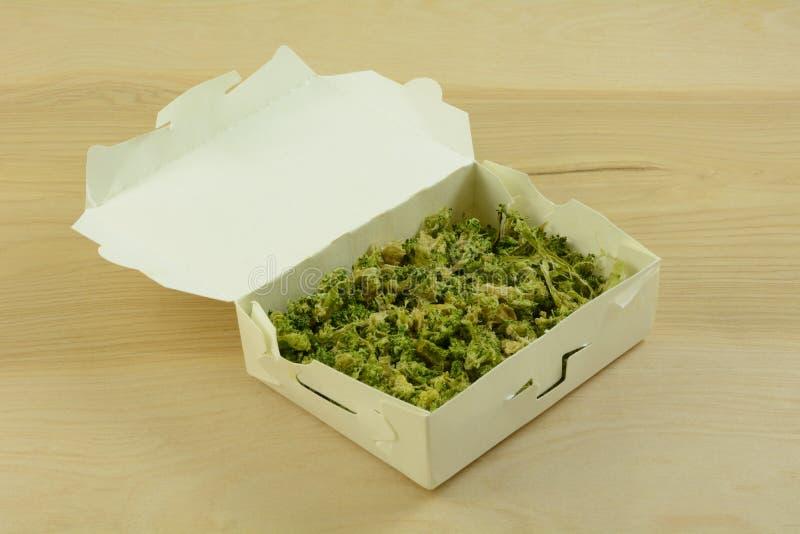 Gefrierschrank gebrannter Brokkoli lizenzfreies stockbild