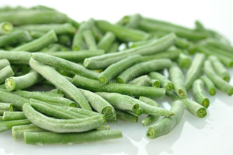 Gefrorene grüne Bohnen stockbild