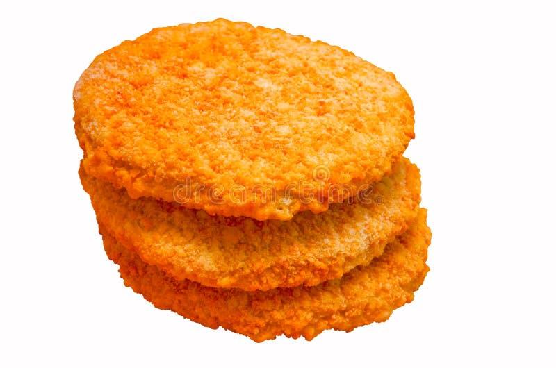 Gefrorene Huhnburger lizenzfreies stockbild