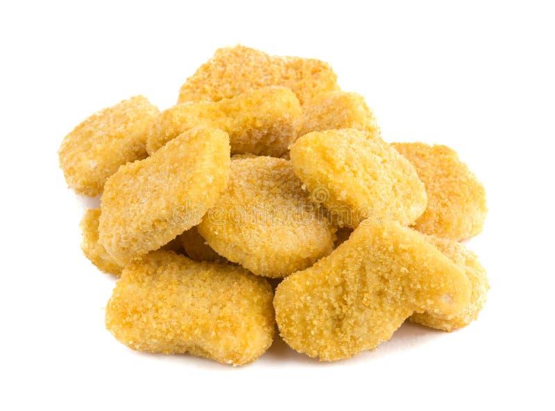 Gefrorene Nuggets auf einem wei?en Hintergrund lizenzfreies stockbild