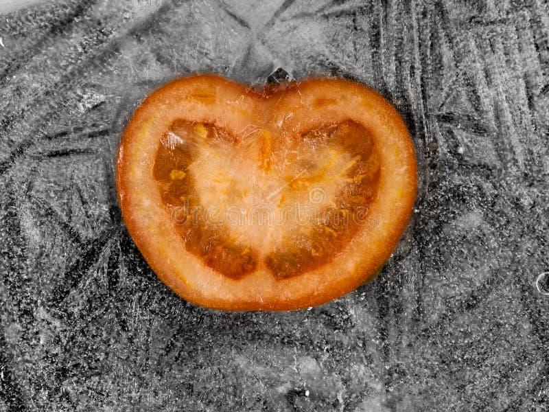 Gefrorene Tomate stockbilder