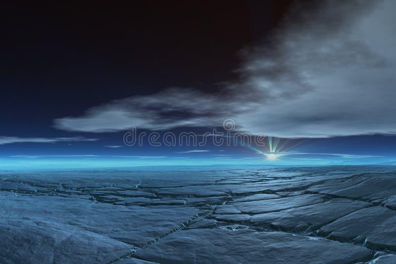 Gefrorene Tundra lizenzfreie stockfotos