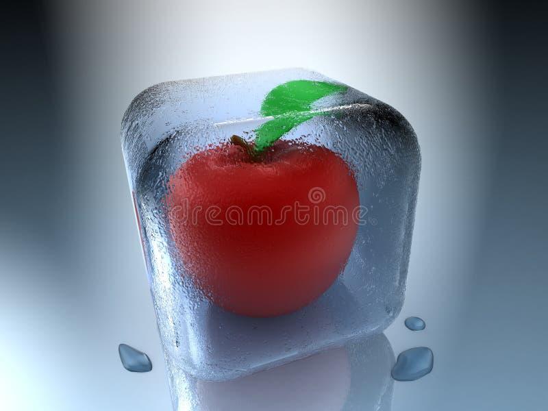 Gefrorener Apfel Lizenzfreie Stockfotos