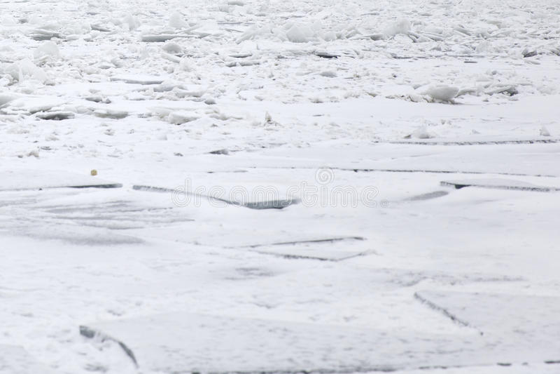 Gefrorener Fluss stockfotos