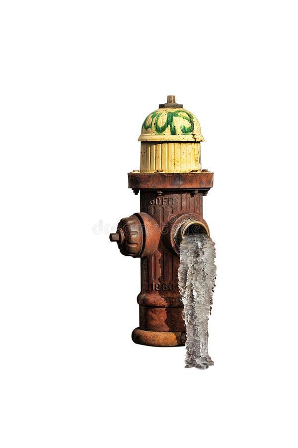 Gefrorener Hydrant lizenzfreie stockfotografie
