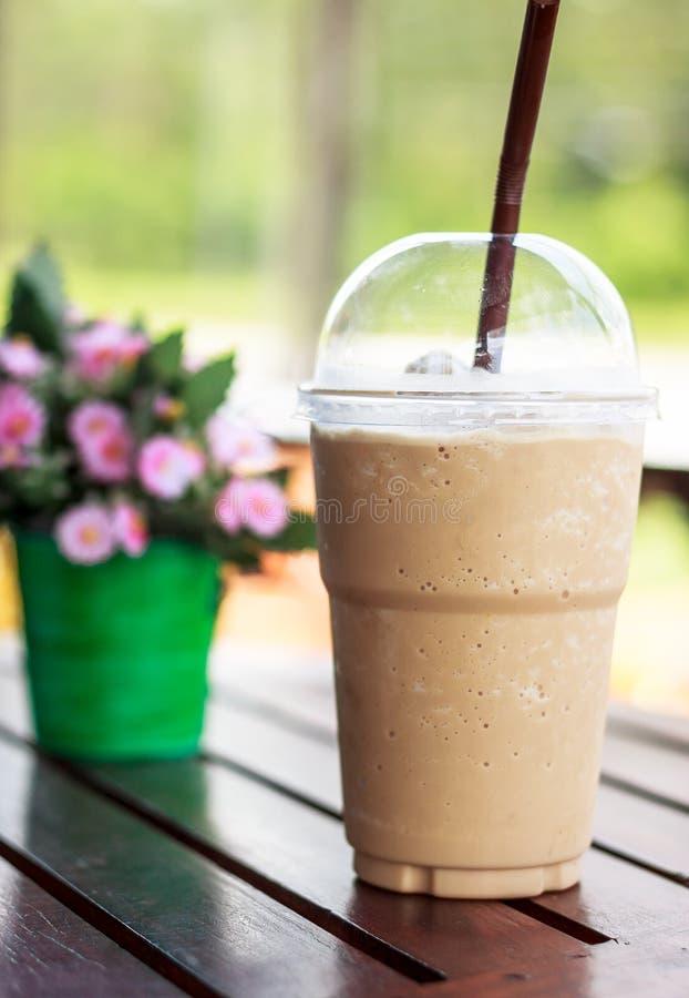 Gefrorener Kaffee stockbild