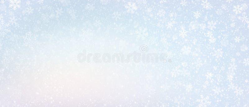 Gefrorener Winterschneeflockenhintergrund lizenzfreies stockfoto