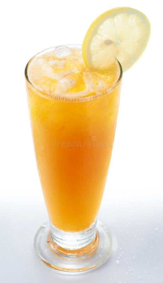 Gefrorener Zitrone-Tee stockfoto