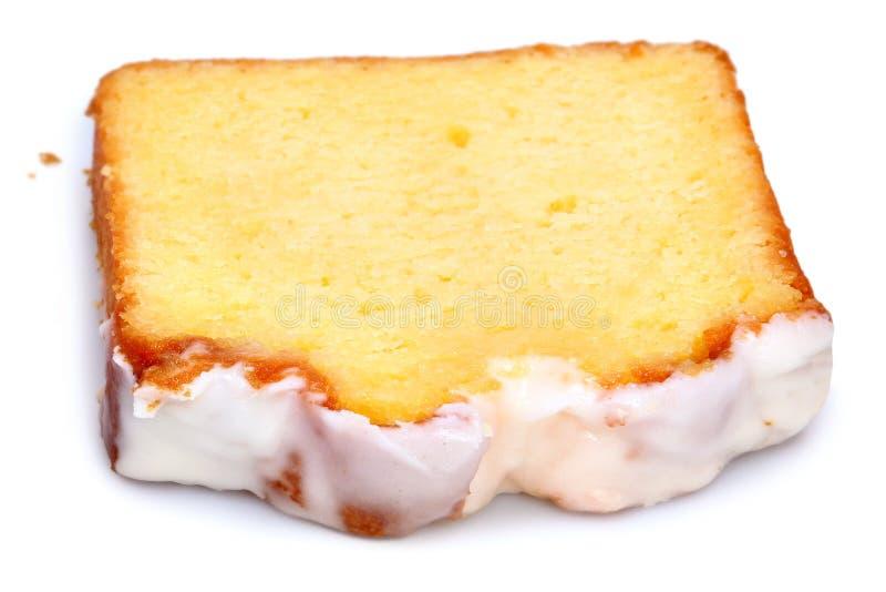 Gefrorener Zitronen-Kaffee-Kuchen stockbilder